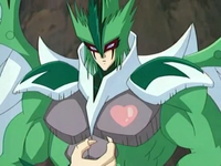 """""""Elemental HERO Avian"""" with a Maiden Counter in the Yu-Gi-Oh! GX anime."""