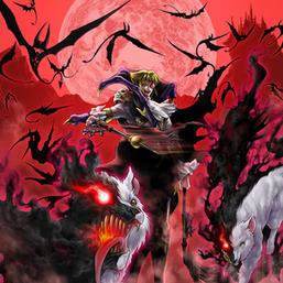 """""""Dhampir Vampire Sheridan"""" and many """"Vampire Familiars"""" and """"Vampire Retainers"""" in the artwork of """"Vampire Domination"""""""