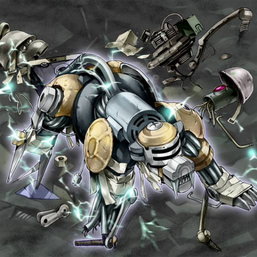 """Scrap Beast"", with the remains of ""Scrap Goblin"" and ""Scrap Soldier""), in the artwork of ""Guts of Steel"""