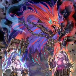 """""""Rakea"""", """"Aruha"""", and a fusion of """"Rage"""" and """"Anguish"""" in the artwork of """"Abomination's Prison""""."""