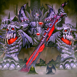 """Archfiend Emperor, the First Lord of Horror"", with ""Archfiend Soldier"" and ""Archfiend General"" in front of ""Archfiend Palabyrinth"""