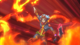 "Soulburner performs a ""Burning Draw""."