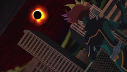 An eclipse appears in LINK VRAINS.
