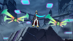 """Kite Tenjo with two """"Cipher Wings"""" in the anime."""