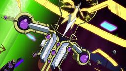 "Leo Akaba with ""Spirit Gem - Silpheed Core"" and ""Master Spirit Tech Force - Pendulum Ruler""."