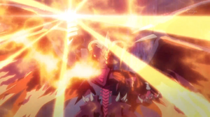"""""""Scarlight Red Dragon Archfiend"""" is equipped with """"Soul Fist""""."""