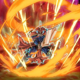 """""""Flame Swordsman"""" in the artwork of """"Flame Wall"""""""