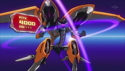 """""""Black Ray Lancer"""" equipped with """"Submersible Carrier Aero Shark"""". This combination in the anime was the basis for the effects and appearance of """"Full Armored Black Ray Lancer""""."""
