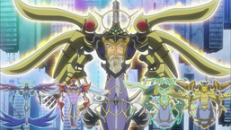 """Z-one (center bottom) with (from left to right) """"Gabrion"""", """"Metaion"""", """"Sephylon"""", """"Sadion"""" and """"Sandaion"""""""