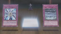"Kaze with ""Armor Ninjitsu Art of Freezing"" and ""Armor Ninjitsu Art of Rust Mist""."