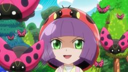 Nanaho smiles upon seeing Yuga return to the Rush Duel.