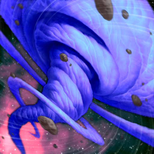 "Artwork of ""Space Cyclone"", a card that detaches Xyz Materials"