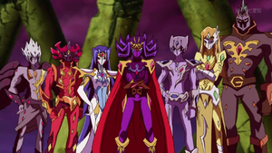The Seven Barian Emperors in their true forms