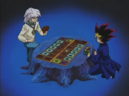 Yami Yugi and Yami Bakura's Duelist Kingdom Duel