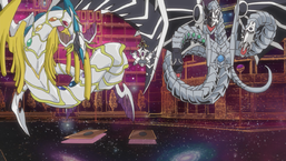"Paradox with ""Malefic Rainbow Dragon"" and ""Malefic Cyber End Dragon"" inside ""Malefic World"""