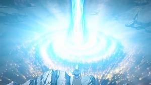 An Xyz Summon in Yu-Gi-Oh! ARC-V