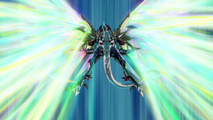 """Neo Galaxy-Eyes Cipher Dragon"" activates its effect."