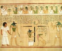 Section of the Book of the Dead, depicting the Weighing of the Heart.