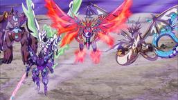 "Ai with ""Earth Golem"", ""Dark Templar"", ""Wind Pegasus"", ""Fire Phoenix"", ""Light Dragon"" and ""Water Leviathan"""