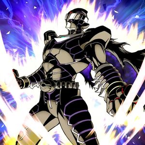 """Infinity Dark"" being Normal Summoned a second time in the artwork of ""Super Double Summon"""