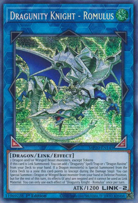 سلسلة تعلم يوغي يو - شرح مجموعة التنانين لينك Dragon Link Deck 450px-DragunityKnightRomulus-MP20-EN-PScR-1E