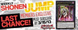 Weekly Shonen Jump March 2013 membership