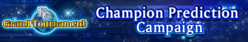 KC Grand Tournament Champion Prediction Campaign