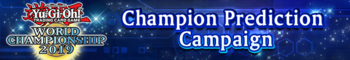 WCS 2019 Champion Prediction Campaign
