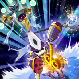 """""""Wind-Up Magician"""" and """"Wind-Up Juggler"""" in the artwork of """"Zenmairch""""."""