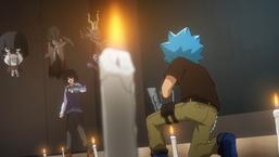 Ushiro's tactics bring Luke to his knees.