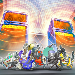 """From left to right, """"Symphonic Warrior Synthess"""", """"Basses"""", """"Drumss"""", """"Miccs"""", and """"Guitaar"""" appear in the artwork of """"Symph Amplifire"""""""