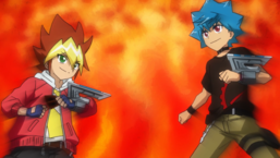 Yuga and Luke face off, prepared to give the Duel their all.
