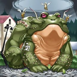 """""""D.3.S. Frog"""", three """"Treeborn Frogs"""" and three """"Des Frogs"""""""