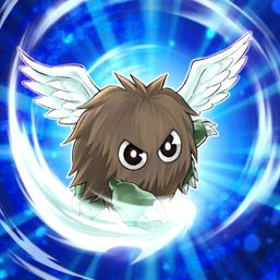 """Winged Kuriboh"" in the artwork of ""Berserker Crush""."