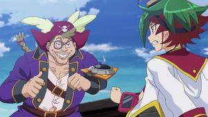 Captain Cutter stopping Yuya.