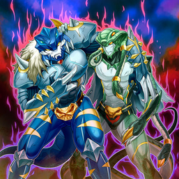 """Gouki Suprex"" and ""Gouki Twistcobra"" in the artwork of ""Gouki Re-Match""."