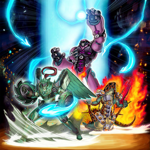 "Artwork of ""Overlay Regen"", a card that attaches Xyz Materials"