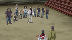 Lucas Swank and his thugs oppose Gong and Chojiro as they try to protect Officer 227.