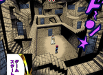 Shadi and Dark Yugi in the labyrinth in Dark Yugi's soul room