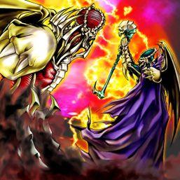 """""""Terrorking Archfiend"""" and """"Darkbishop Archfiend"""" in the artwork of """"Archfiend's Roar"""""""