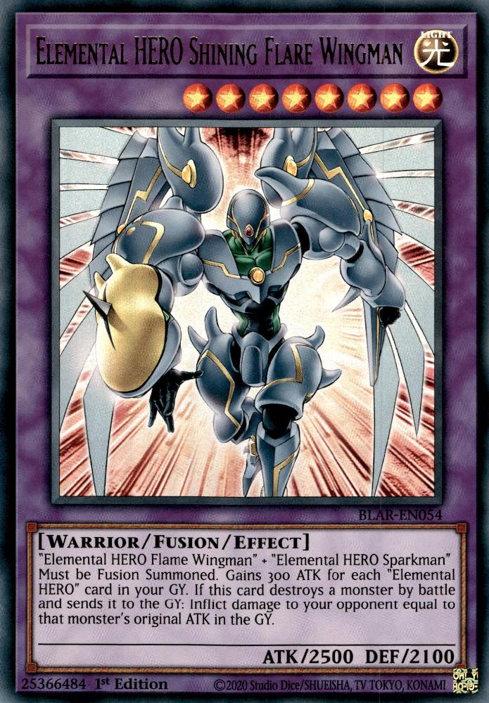 elemental hero shining flare wingman  yugipedia  yugi