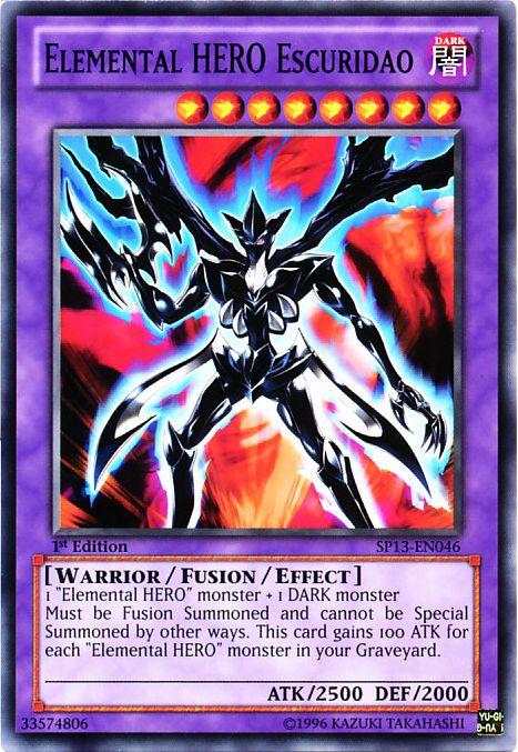 elemental hero escuridao  yugipedia  yugioh wiki