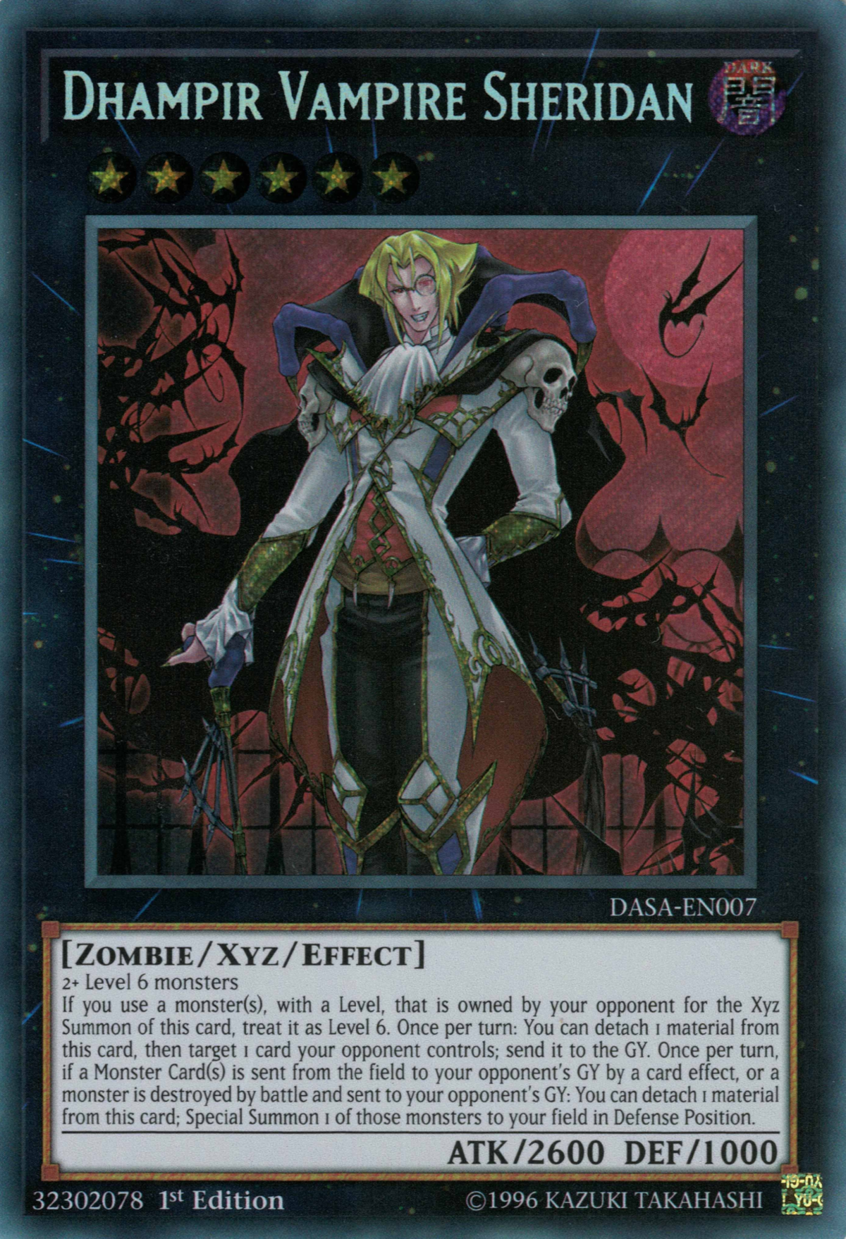 Dhampir Vampire Sheridan - Yugipedia - Yu-Gi-Oh! wiki